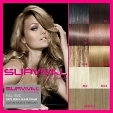"""CLIP IN REMY HUMAN HAIR 20"""" EXTENSIONS AA+ GRADE SALON QUALITY - ALL COLOURS"""