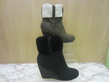 Ladies CoCo High Wedge Ankle Boot 'L8612'