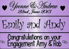 PERSONALISED LILAC PURPLE WEDDING ANNIVERSARY ENGAGEMENT BANNER PARTY DECORATION