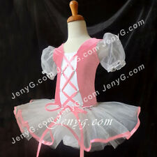 #LB01 Girls Ballet Leotard Dance Party Ball Costume Tutu Dress Pink 2-8 Years