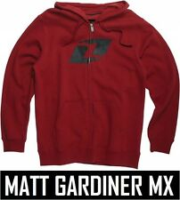 ONE INDUSTRIES YOUTH EXPO HOODIE CARDINAL RED zipped KIDS sweater motocross