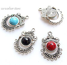 ANTIQUE Tibet silver chandelier earring pendant connector charm 20*32mm 3 color