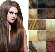 """Cheap 5PCS 40G 100% remy human hair clip-on in extensions 16"""" 20"""" 24"""" On Sale"""