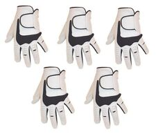 5 MENS  CABRETTA LEATHER  GOLF GLOVES
