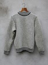 Norwegian Crew Neck Jumper by Norlender (Off White and Charcoal) 100% Wool