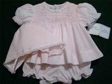 HAND~EMBROIDERED PREEMIE/NEWBORN SMOCKED BABY GIRLS TOPPER SET~NWT'S~reborn doll