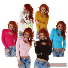 NEW SEXY SIZE 6,8,10,12 WOMENS LADIES JUMPER SWEATER CLUB PARTY KNIT CASUAL TOP