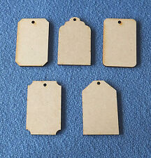 5 x Wooden 3mm thick MDF Craft Shapes Blanks gift tags key fobs mini plaques