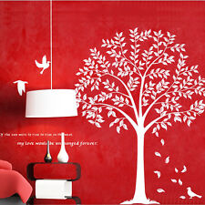 Wall Stickers  Removable Wish Birds Linden Tree Bedroom Decals Mural Decor
