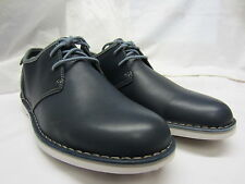 Clarks 'Marden Grove' Mens Navy Leather Casual Shoes G Width Fitting