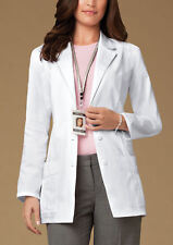 Scrubs Cherokee Notched Lapel Lab Coat  2321 White  Buy 3 Ship $6