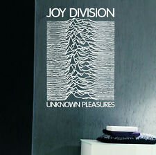 LARGE MUSIC BAND JOY DIVISION UNKNOWN PLEASURES WALL ART STICKER TRANSFER DECAL