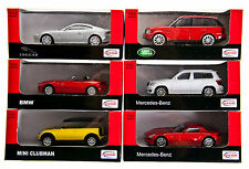Die Cast Sport Cars, Metal Cars, Scale 1:43, Modell: BMW Z4, Mercedes, Jaguar ..