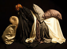 SILK COMFORTER COVER / DUVET COVER, 100% PURE SILK - KING / QUEEN - FOUR SHADES