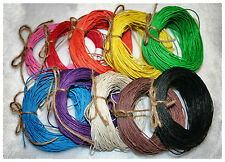 Colored HEMP TWINE cord, 10 20 30 yards, 1mm, 20 lb, JEWELRY MAKING SUPPLIES