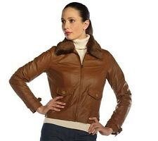 Isaac Mizrahi Live! Nappa Leather Jacket with Faux Fur Collar      A211319