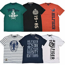 Tommy Hilfiger T-Shirt Mens Graphic Lot of 5 Random Tees All Sizes Colors P064