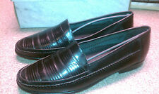 New in Box Mens Leather Loafers L.J. Simone Black 0714011