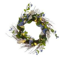 "Bethlehem Lights Battery Operated 25"" Floral Bouquet Wreath with Timer  H191229"
