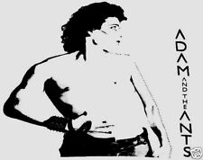 ADAM AND THE ANTS T-SHIRT PUNK SIOUXSIE MONOCHROME SET BOW WOW WOW ADAM ANT