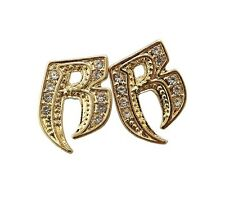 """Hip Hop Iced Out  Ruff Ryder """"R"""" Piece Pierced Fashion Earring  XE1078"""