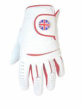 Mens Cabretta Leather Golf Glove + Union Jack Magnetic Ball Marker