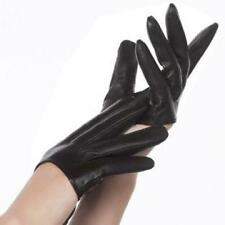 New Sex and the City  Lady Gaga Sexy Black Half-Palm Leather Five Fingers Gloves