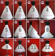 WHITE BRIDAL WEDDING DRESS /PROM PETTICOAT/UNDERSKIRT/CRINOLINE,S-XL