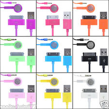 Coloured Handsfree Earphones With Microphone Control&Data Sync Cable FOR Apple