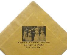 25 Golden Wedding Personalised Photo Paper Napkin 40cm 3 Ply Colours Serviettes
