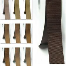 "Grosgrain Ribbon 3-1/2"" /89mm Wholesale 100 Yards, Discount Ivory to Brown color"