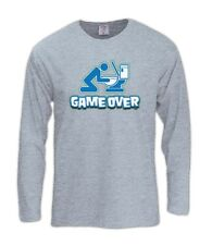 Game Over Toilet Long Sleeve T-Shirt Drunk drinking beer funny WC