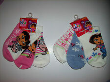 Dora Socks 3 Pair Pack Girls Size 6-8 Select Boots Ladybugs Flowers NIP