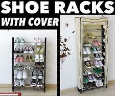SHOE RACK Tower Storage WITH COVER Shoes Boots Adults Children 18 30 or 50 pairs