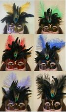 Aspen Eye Mardi Gras Mask with Feathers- Different Colors
