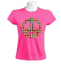Peace Sign-Smiley Faces Women T-Shirt 60s hippies youth movement  sixties USA