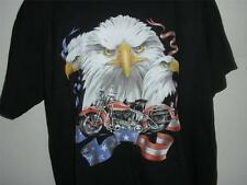 Awesome New Motorcycle Black Tee Shirt SIZES SMALL Thru 4XL NWOTS