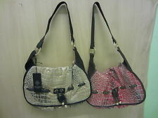 Ladies Bulaggi Croc Print Handbag, Available In 2 Colours, 24411