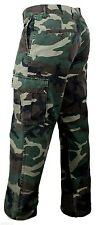 Vintage Cargo Pants Flat Front Woodland Camo Various Sizes Rothco 4871