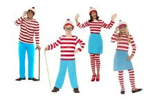 WHERE'S WALLY ADULT  CHILD COSTUME MENS LADIES BOYS GIRLS FANCY DRESS ALL SIZES