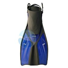New Tilos Getaway Travel Snorkeling Fins for Wide Feet - Blue - All Sizes