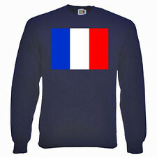 French Flag (FRANCE) Sweatshirt, FLAGS - Choice of size & colours.