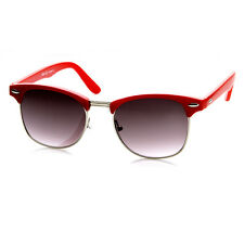 New Trendy Retro Fashion Color Half Frame Clubmaster Sunglasses 8735