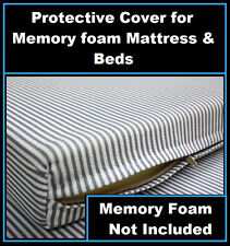 King Size Protective Zipper Cover For Bed Mattress Memory /Egg Crate Foam Topper