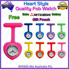 Heart Style Quality Silicon Nurse Teacher Fob Watch Pouch Pocket Bag Pick Color