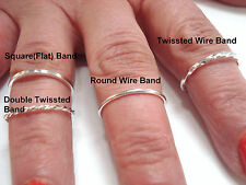 CHOOSE & DESIGN(MAKE) YOUR SILVER STACKING,KNUCKLE OR TOE RING MADE IN U.S.