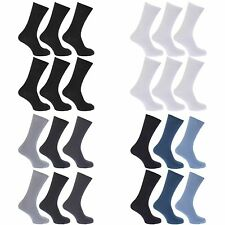 (Free PnP) FLOSO Mens Ribbed 100% Cotton Socks (Pack of 6)