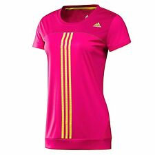 ADIDAS RESPONSE NEW CAP SLEEVE TOP T SHIRT PINK YELLOW WOMENS GIRLS  2XS - XL