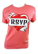 NEW FASHIONABLE HEART / TATTOO PRINT T SHIRT TOP IN 4 COLOURS SIZE 10 12 14 16
