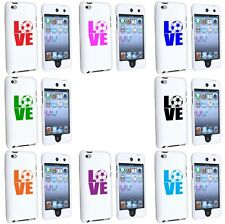 Apple iPod Touch 4th Generation White 2 Piece Hard Case Cover Love Soccer